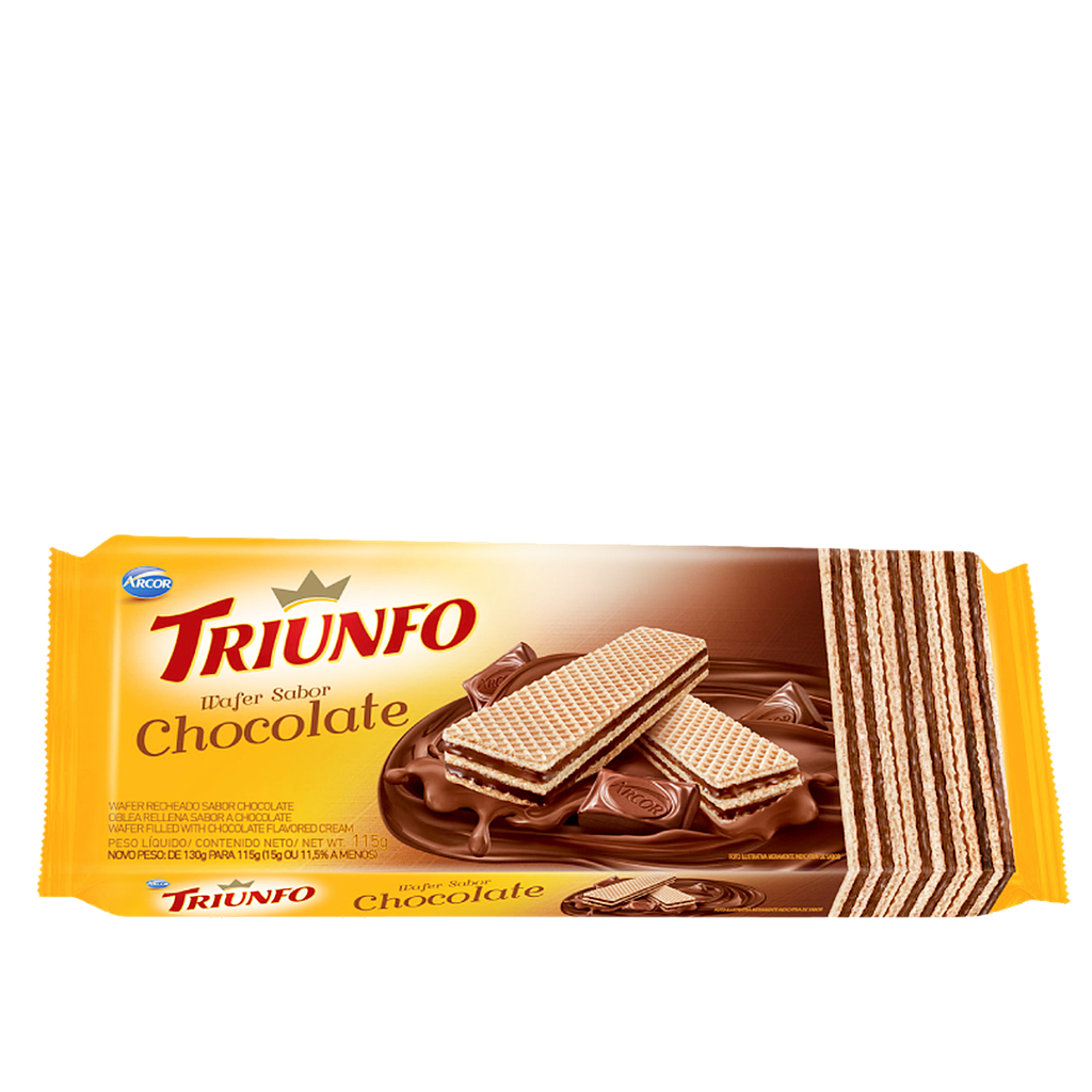 Wafer Chocolate Triunfo 115g