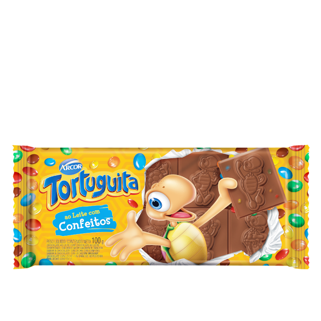 Chocolate Confeitos Tortuguita Arcor 100g