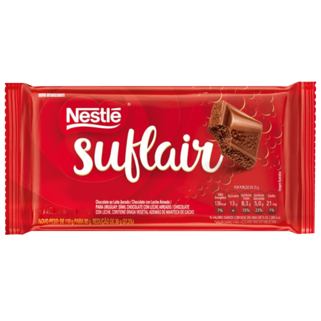 Chocolate Suflair Ao Leite 80g