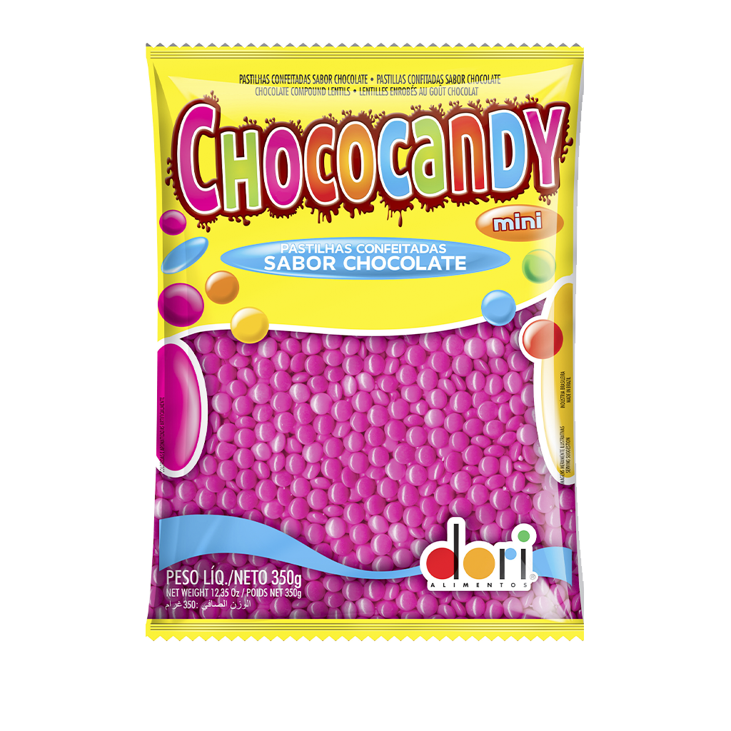 [71098] Confeito Mini Rosa Chococandy 350g