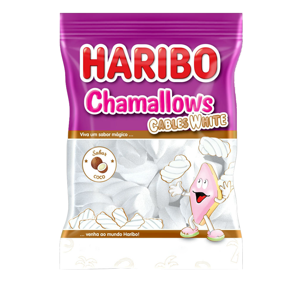 [15401] Marshmallow Cables White Haribo 250g