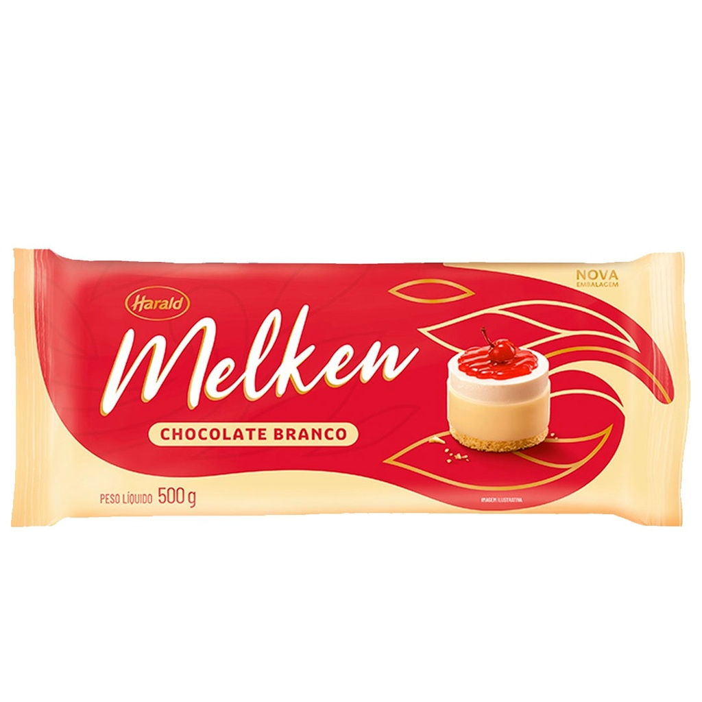 [61498] Chocolate Melken Branco Harald Barra 500g